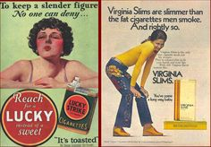 Cigarette companies make up quite a few of the shocking vintage advertisements on our list. Description from virallery.com. I searched for this on bing.com/images