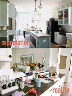 Blog & magazine expectations of perfection compared to the reality of life.