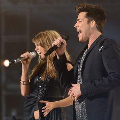 Adam Lambert and Angie Miller