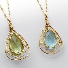 artisan embrace gemstone necklace from RedEnvelope.com