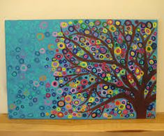 Image result for abstract paintings of trees in acrylic paint