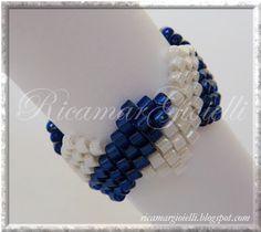 - diagonal stitch- Delica beads 11/0~~~~~~~~ Ricamar Gioielli: Anelli (vedi anche orecchini coordinati)