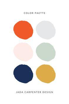 Follow @jadacarpenterdesign for more color inspiration Palette Pastel, Modern Color Palette, Colour Pallette, Modern Colors, Colour Schemes, Color Patterns, Color Combos, Orange Color Palettes, Modern Color Schemes
