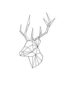 """Résultat de recherche d'images pour """"reindeer shape geometric"""""""