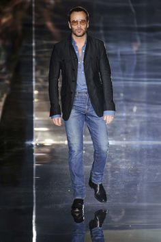97177136d1db Designer Tom Ford at his Spring 2015 Presentation Tom Ford Jeans