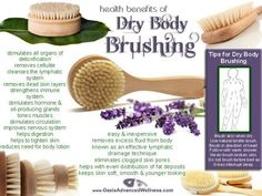 Natural Cures Not Medicine: Dry Body Brushing - Dry body brushing has been around for centuries. It is a great way to detoxify the skin aid in lymphatic drainage and helps in reducing cellulite to name but a few of the many benefits. Benefits Of Dry Brushing, Dry Brushing Skin, Dry Skin, Natural Cures, Natural Healing, Natural Skin Care, Natural Beauty, Tighten Loose Skin, Health And Beauty Tips