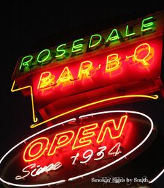 Menu - Rosedale Bar-B-Q - Barbecue Restaurant in Kansas City, KS Bbq Kansas City, Kansas City Restaurants, Kansas City Missouri, Bbq Signs, Bbq Menu, Bar B Q, Best Bbq, Advertising Signs, City Streets