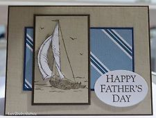 Handmade SAILBOAT card for Fathers Day ~ uses Stampin Up products