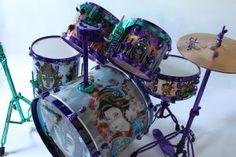 custom drum kit/set with amazing art
