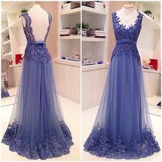 purple prom dress, long prom dress, tulle prom dress, backless prom dress, formal evening dress, BD16