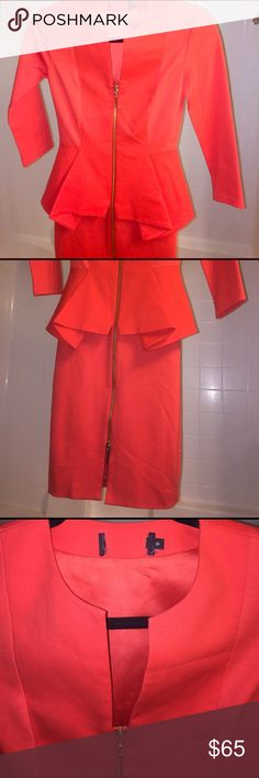 🔥FLASH🔥Ted Baker Red L/S Peplum Dress - Damage FINAL MARKDOWN! I recently purchased this amazing dress but it doesn't fit me 😫There is some slight discoloration on the arm and side as seen in photo #4. I felt it wasn't really noticeable when wearing. Could possibly come out beautifully if professionally cleaned however I am selling 'as is' since the size isn't correct for me. Tag has been cut to prevent returns. Ted size O or a 2-4 equivalent in the US! Get this stunner for a great deal…