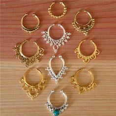 Assorted Septum For Non Pierced Nose - Tribal Jewelry - Indian Jewelry - Ethnic Septum - Septum Jewelry - Septum Piercing