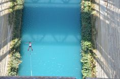 Bungee jumping on Corinth Canal