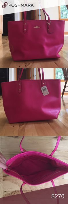 ⭐️FREE SHIPPING⭐️NWT hot pink coach bag New with tags hot pink coach bag. Never used. Additional pictures were added in a separate listing. Coach Bags