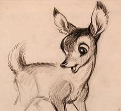 By Marc Davis, some early Bambi sketches