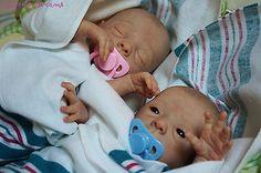 Reborn Baby Boy and Girl ~ Twins ~ Evelina Wosnjuk ~ Karen's Dreams