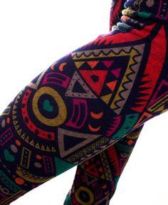Stained Glass Leggings: Soul Flower Clothing