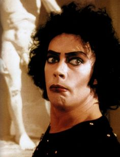 Tim Curry as Dr Frank-N-Furter in 'The Rocky Horror Picture Show',1975.