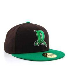 53e2b354e8ba7 New Era Dayton Dragons MiLB 59FIFTY Cap - Black Green 7 1 4