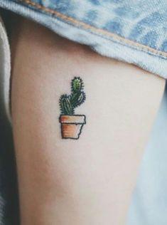 Tatuagens de cactos para se inspirar – Grazi Costa