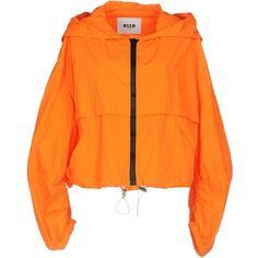Msgm Jacket ($325) ❤ liked on Polyvore featuring outerwear, jackets, orange, multi pocket jacket, zip jacket, msgm, orange jacket and zipper jacket