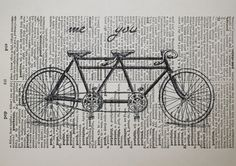 love this print on a vintage dictionary page! from CrowBiz on Etsy. $10