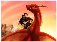 Sunset Flight by Eeveetachi on DeviantArt Murtagh Eragon, Eragon Saphira, Eragon Fan Art, Inheritance Cycle, Christopher Paolini, Wings Of Fire, Dragon Rider, Books For Teens, Arya