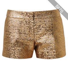 LANVIN Metallic Lamé Shorts