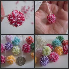 Going to make a few to look like the flower from Horton Hears a Who, kenns is into that movie :)
