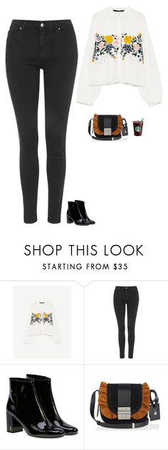 """""""Untitled #2165"""" by tayloremily218 on Polyvore featuring Topshop, Yves Saint Laurent and Lanvin"""
