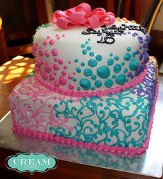 Sweet-16-Dots-and-Swirls-creamcakery.jpg 637×700 pixels