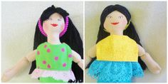 Asian Dress Up Doll - Toy Handmade Doll