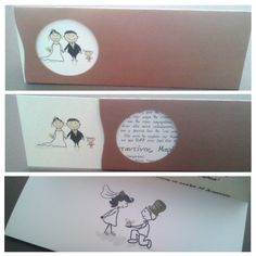 Wedding invitation with crafted Prisma Majestic paper... Fully customized!
