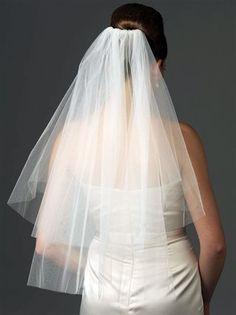 Elbow Length Ivory Short Bridal Veil with Comb Wedding Veil for Brides