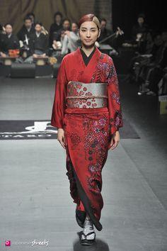 140319-7706 - Autumn/Winter 2014 Collection of Japanese fashion brand JOTARO SAITO on March 19, 2014, in Tokyo.