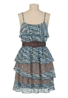 Belted Lace Floral Dress - maurices.com