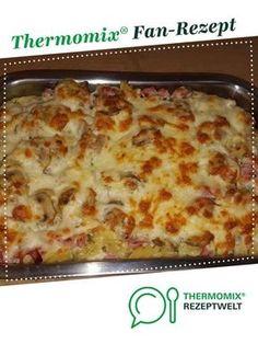 Nudelgratin mit Schinken und Champignons von Sako1. Ein Thermomix ® Rezept aus der Kategorie sonstige Hauptgerichte auf www.rezeptwelt.de, der Thermomix ® Community.