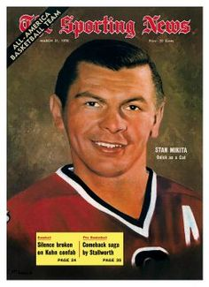 (Wow, the year Iwas born!The Sporting News Magazine - Chicago Blackhawks Center Stan Mikita - March 1970 Blackhawks Game, Chicago Blackhawks, Chicago Bears, Basketball Uniforms, Basketball Jersey, Bobby Hull, Ice Hockey Players, My Kind Of Town, Team Player