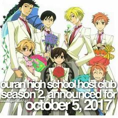 Ouran high school host club season 2?! I found that picture on Facebook...I Hope it's true!