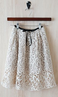 Simply Unforgettable Lace Cocktail Skirt, Ivory