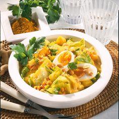 Weißkohl-Curry mit Ei Rezept | LECKER