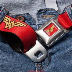 Ahhhhh i totally want this Wonder Woman Seatbelt Belt. Logo Wonder Woman, Wonder Woman Party, Superman Wonder Woman, Dc Comics, Dc Memes, Geek Chic, Belts For Women, Women's Accessories, My Girl