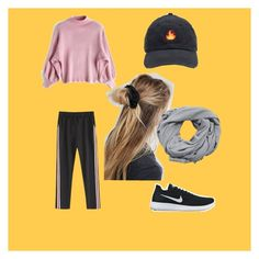 """""""Day off!"""" by maggisp on Polyvore featuring NIKE, ASOS and MANGO"""