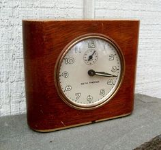 Vintage Seth Thomas Wind Up Wood Encased Alarm Clock Deft 3 USA Works | eBay