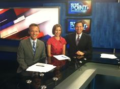 "Katie and I were guests on weekend political show ""To the Point"""