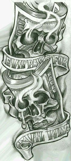 Skull Tattoos for Men Shoulder . Skull Tattoos for Men Shoulder . Gangster Tattoos, Dope Tattoos, Evil Tattoos, Skull Tattoos, Evil Skull Tattoo, Best Forearm Tattoos, Gangster Drawings, Faith Tattoos, Skull Tattoo Design
