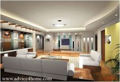 design for living room with high ceiling
