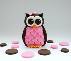 Edible Fondant Owl Cake Topper by EdibleDesignsByLetty on Etsy, $20.00