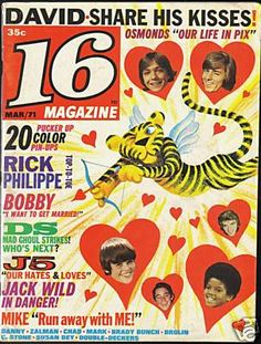 16 magazine. I read this as pre-teen. David Cassidy and Davy Jones. Some of my favs. Don't forget the Osmonds and the Jackson  5 too!