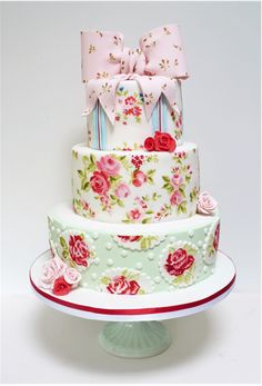beautiful painted cake